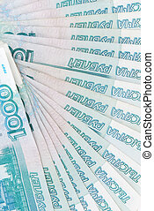 russian rouble banknotes - background of russian rouble...