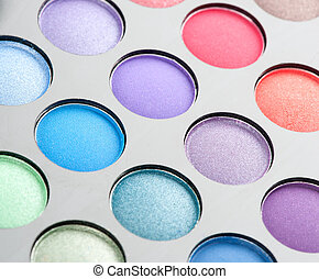eye shadows close up