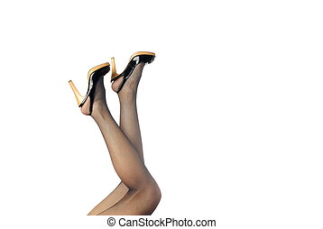 My elegant legs - Photo of the elegant woman legs in...