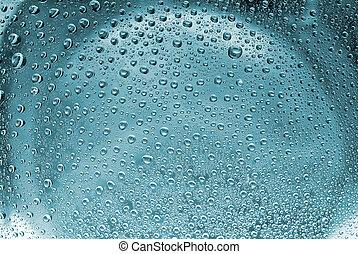 水, 泡, 抽象的, 背景