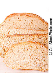 Sliced Loaf of Whole Grain Bread
