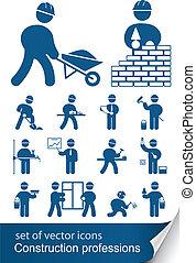 construção, profissões