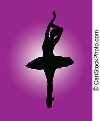 ballerina with background 2 - illustration of ballerina with...