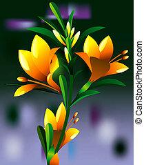 黄色, oleander, 花, 植物
