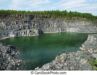 Opencast mine in Karelia, Russia