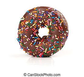 chocolate doughnut isolated on white background