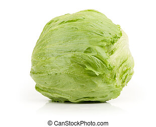 Iceberg Lettuce isolated on white