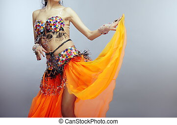 Belly dancer - Body of the belly dancer in traditional...
