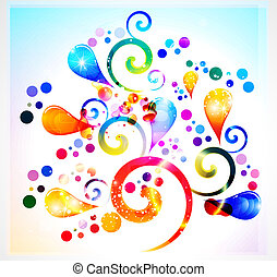 abstract rainbow colorful floral background vector...