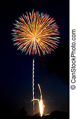 Fireworks over Iowa July 2011