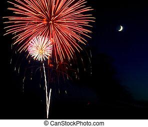 Fireworks over Iowa July 2011