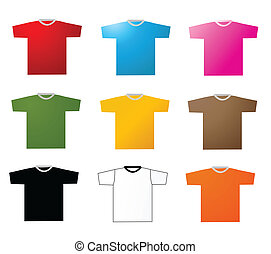 Set of tee shirts vector