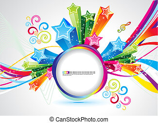 abstract colorful rainbow magical explode vector...