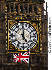 The Clock Tower and the British flag - The Clock Tower and...