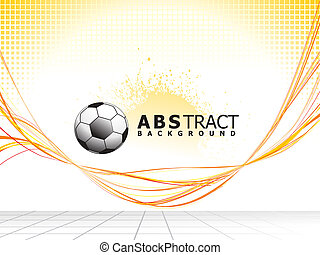 abstract colorful line wave background with football