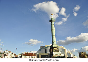 Bastille Square in Paris - Bastille Square, Paris, France