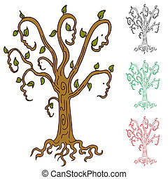 Family Tree - An abstract image representing a family tree.