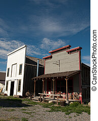 General Store - Exterior elevation of the old western...