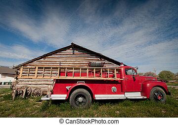 Antique Firetruck - A mint-condition antique firetruck...