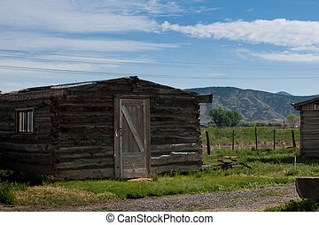 Old Log Home - Lee Wung's Laundry and home. Museum of the...