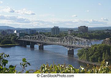 Bridge from Ottawa to Gatineau, Qc - The Royal Alexandra...