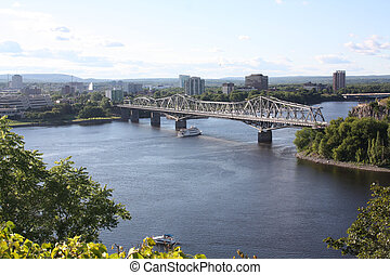 Bridge from Ottawa to Gatineau, Qc - The Royal Alexandra...