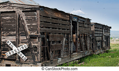 Boxcar - 2-1910 D&RG RR Boxcar. Museum of the Mountain West...