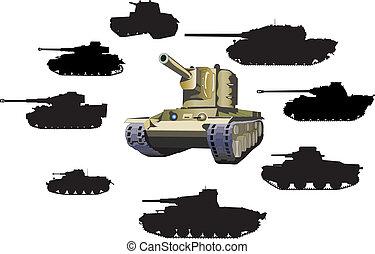 Set of tanks