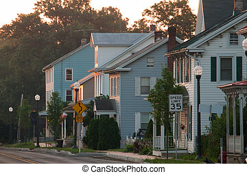 Old house on main street in downtown of Linglestown,...