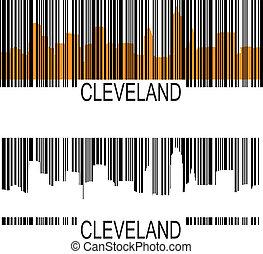 Cleveland barcode - Cleveland skyline barcode