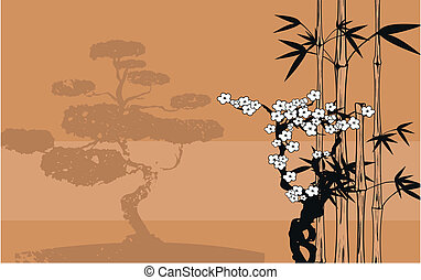 japan bamboo background9 - japan bamboo background in vector...