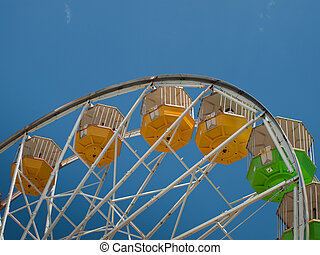 Ferris Wheel - Ferris wheel at the Elitch Gardens Theme Park...