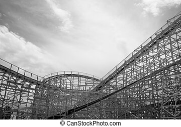 Old Rollercoaster - Old fashion rollercoaster at the Elitch...