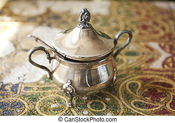 sugar bowl - the old silver sugar bowl