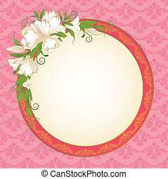 background with white flowers.