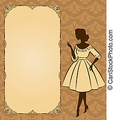 Vintage silhouette of girl