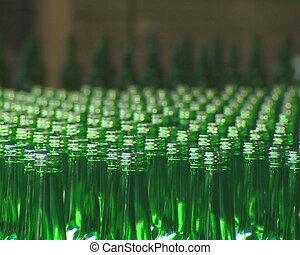 Lots of green bottle