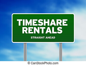 Green Road Sign - Timeshare Rentals - Green Timeshare...