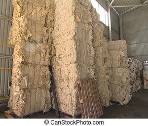 Huge heap of pressed paper