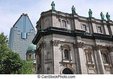 Cathedral of Marie-Reine-du-Monde in Montreal, Canada