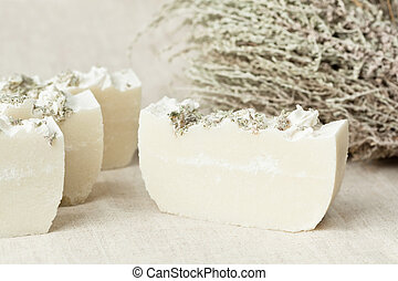 Natural herbal soap - Bars of natural handmade herbal soap...