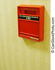 Fire Safety - An old fire alarm concepts of fire safety