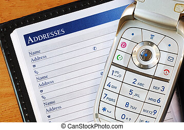 Cellular phone with an address book concepts of...