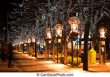 City at Christmas - Downtown Denver at Christmas. 16th...