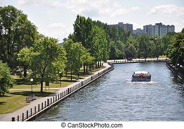 Rideau Canal in Ottawa, Canada