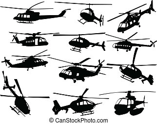 big collection of helicopters