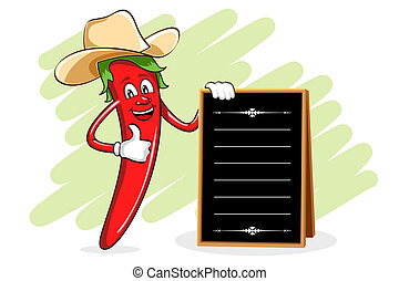Chili Chef with Menu Board
