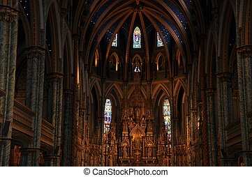 Notre Dame Basilica in Ottawa