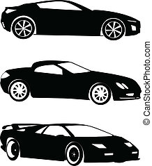 cars collection - vector - illustration of cars collection -...