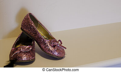 Pink girl's shoes